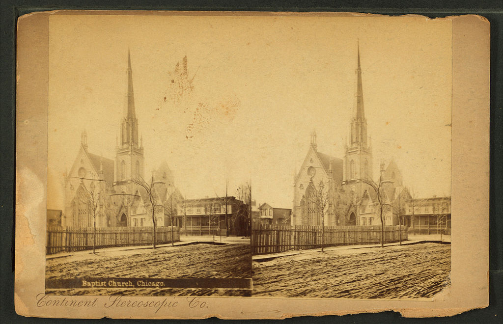 Baptist Church, Chicago, by Continent Stereoscopic Company