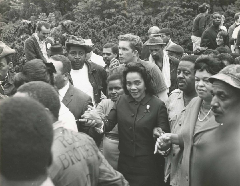 Coretta Scott King during the Poor People's Campaign. (Jack Rottier Collection.)