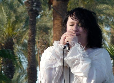 Antony and the Johnsons giving a concert at the Coachella Valley Music and Arts Festival in 2009. Photo credit: Fred von Lohmann (CC).