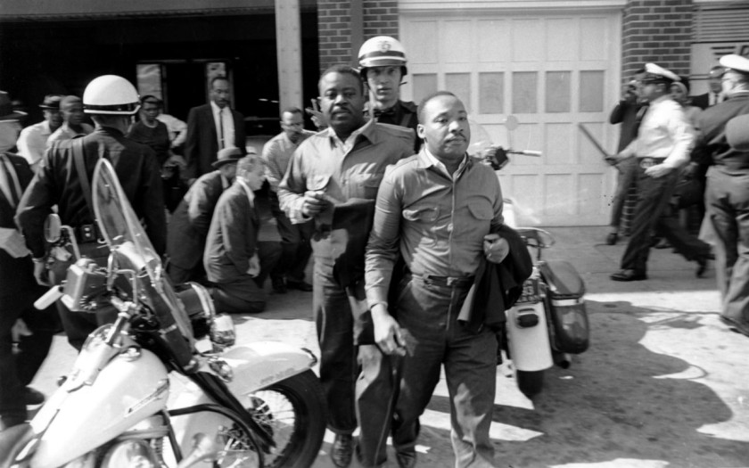 Rev. Ralph Abernathy and Rev. Martin Luther King Jr on their way to prison.