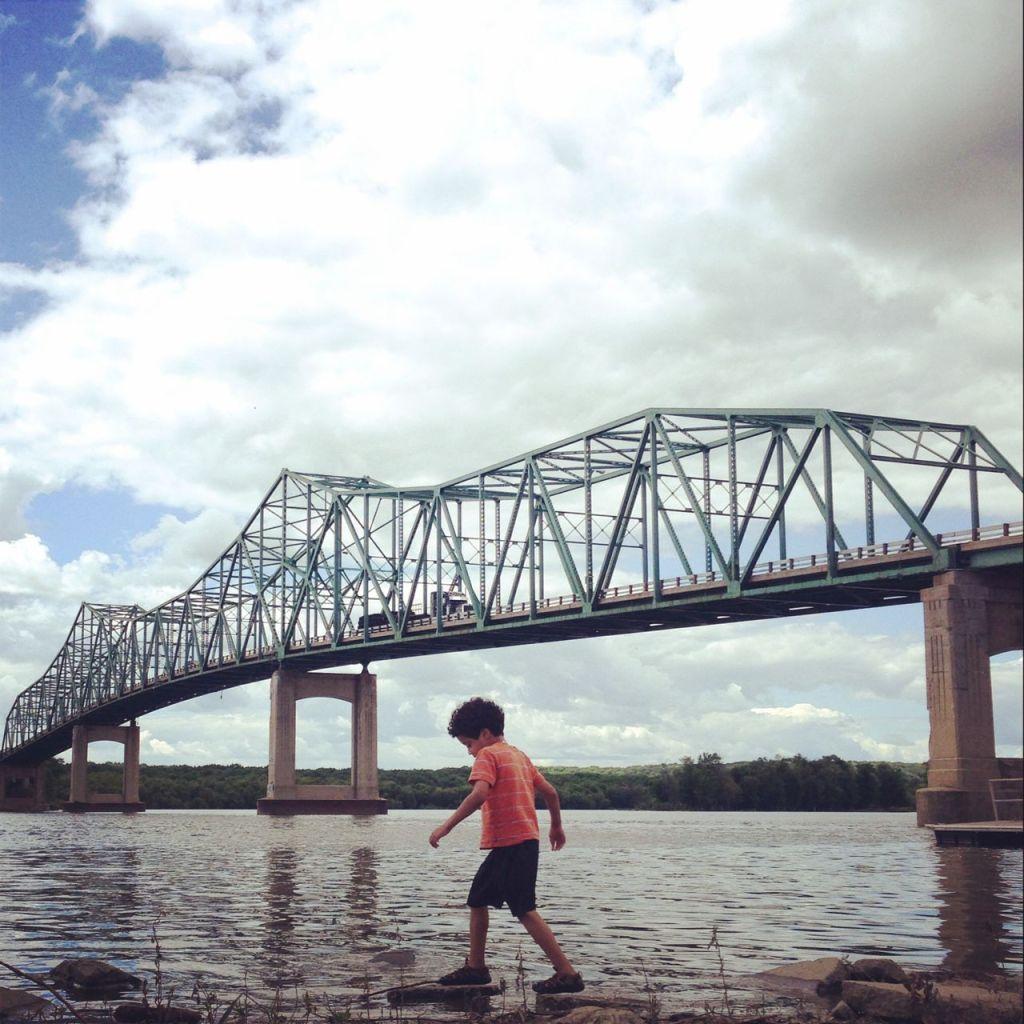 Bridge over the Illinois River, near Lacon, IL.