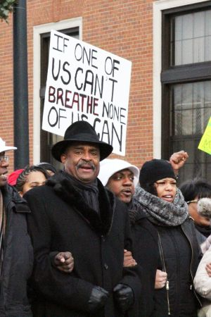 Black Lives Matter Protest in Bronzeville (photo credit: Esther Kang)