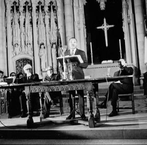 Rev. King at Riverside Church.